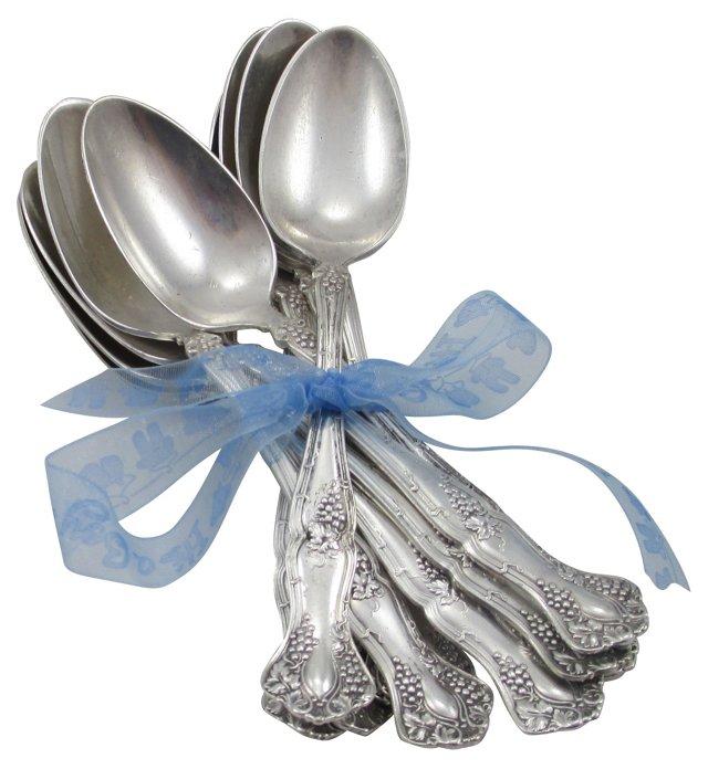 Silverplate Dessert Spoons, S/10