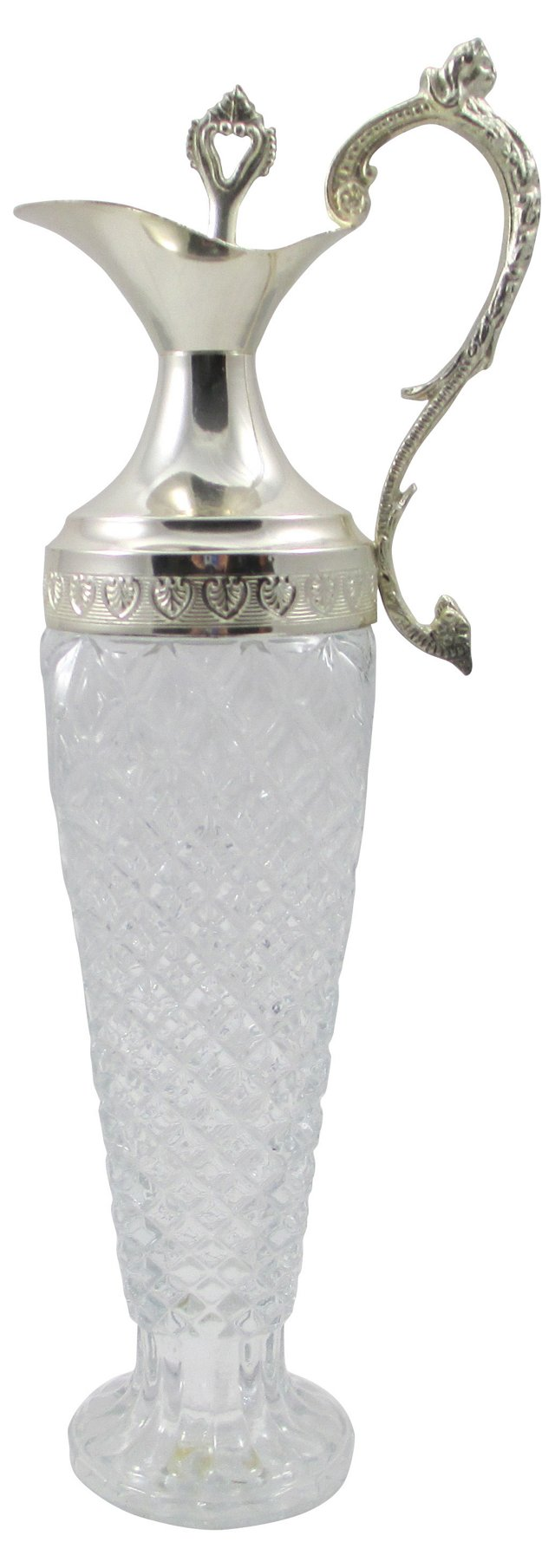 Italian Cut-Glass & Silver Decanter