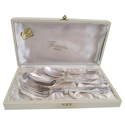 Paris Art Deco Silver Set, 3-Pcs
