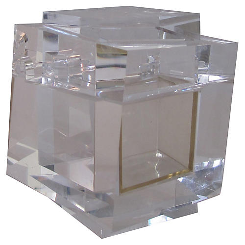 Gianni Versace Prismatic Lucite Box
