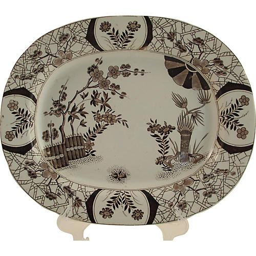1870s English Aesthetic Movement Platter