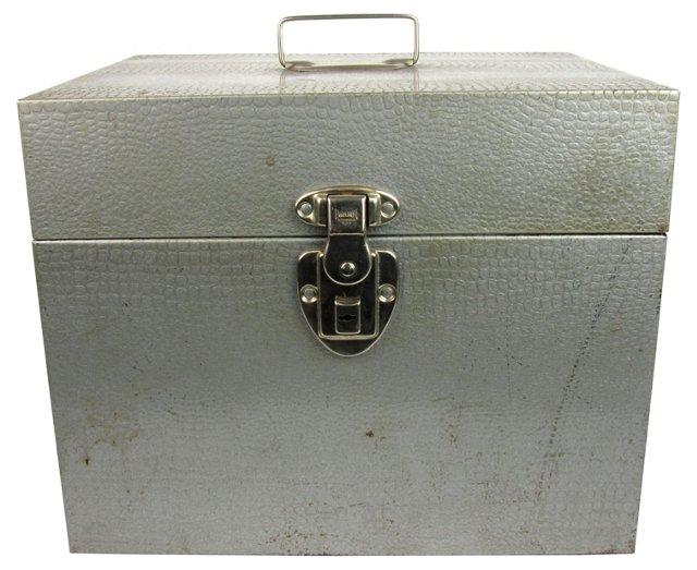 Croc Print Metal File Box