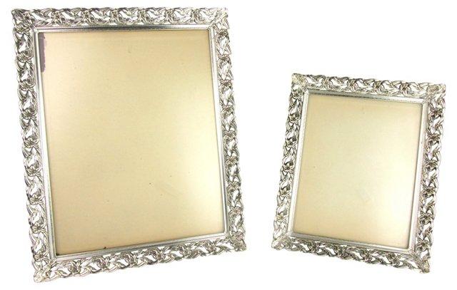 Pressed Metal Picture Frames, Pair