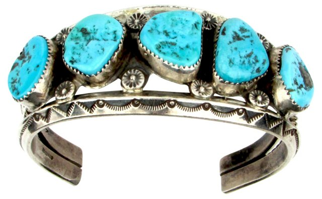 1960s Navajo Cuff w/ Turquoise