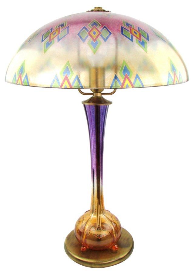 European Art Glass Lamp