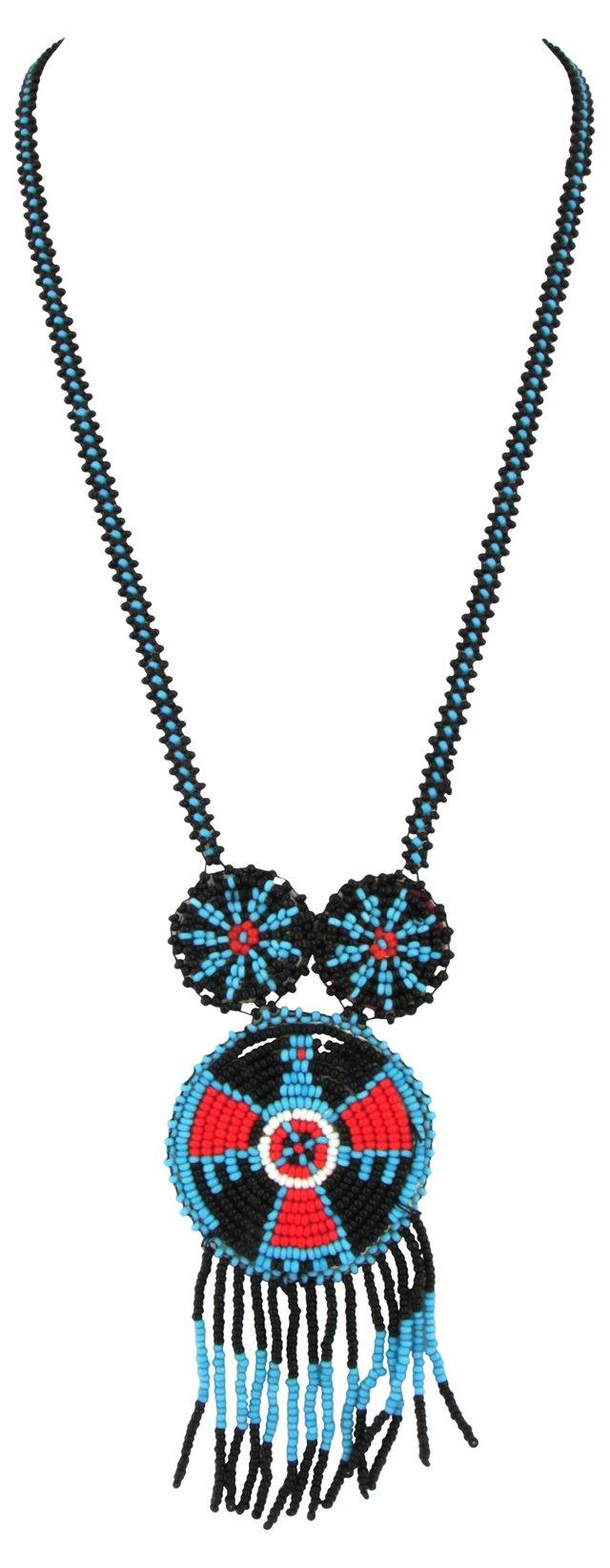 1920s Beaded Thunderbird Necklace