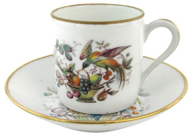 Limoges Porcelain Cup & Saucer