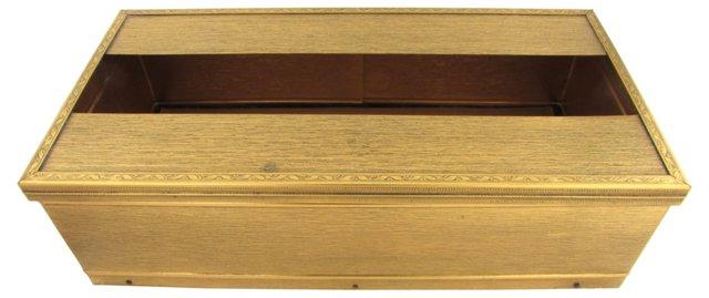 Gold Tissue Box Caddy