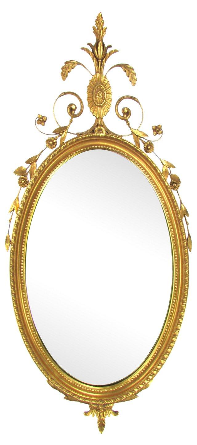 Gilt & Carved Italian Mirror