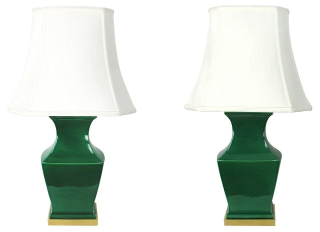 Paul Hanson Pagoda Lamps, Pair
