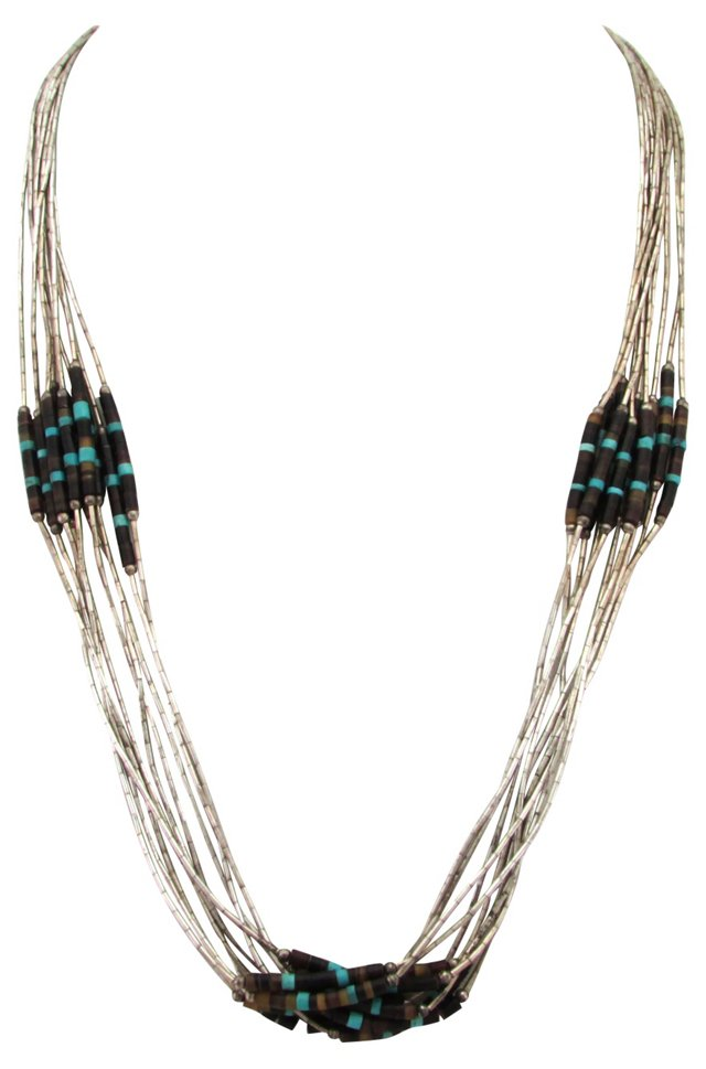 10-Strand Sterling Heishi Necklace