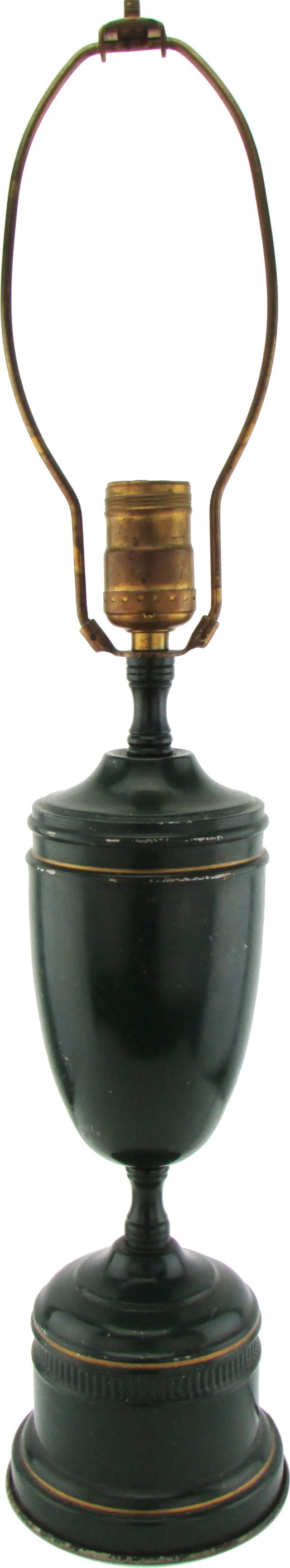 Green Tole Lamp