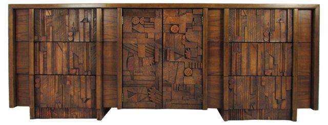 Lane Brutalist-Style Cabinet