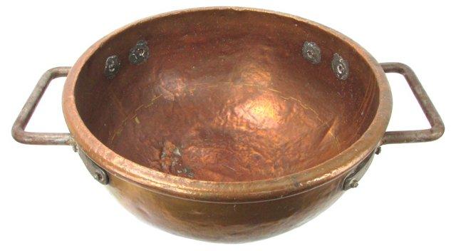 Antique Copper Apple Butter Kettle