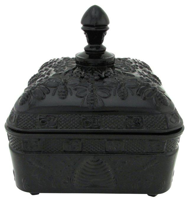Black Glass Bee Box