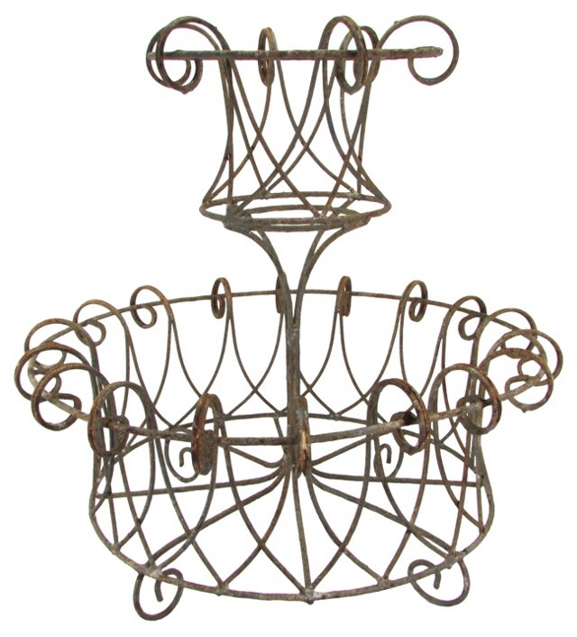 French-Style Wire Planter