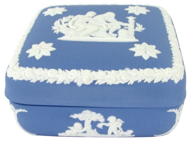 Covered Wedgwood Jasperware Box