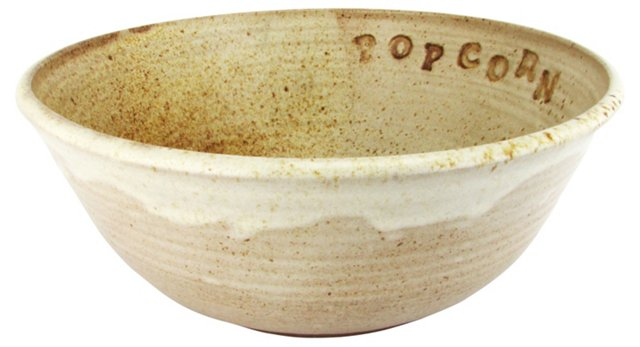 Hand-Thrown Popcorn Bowl