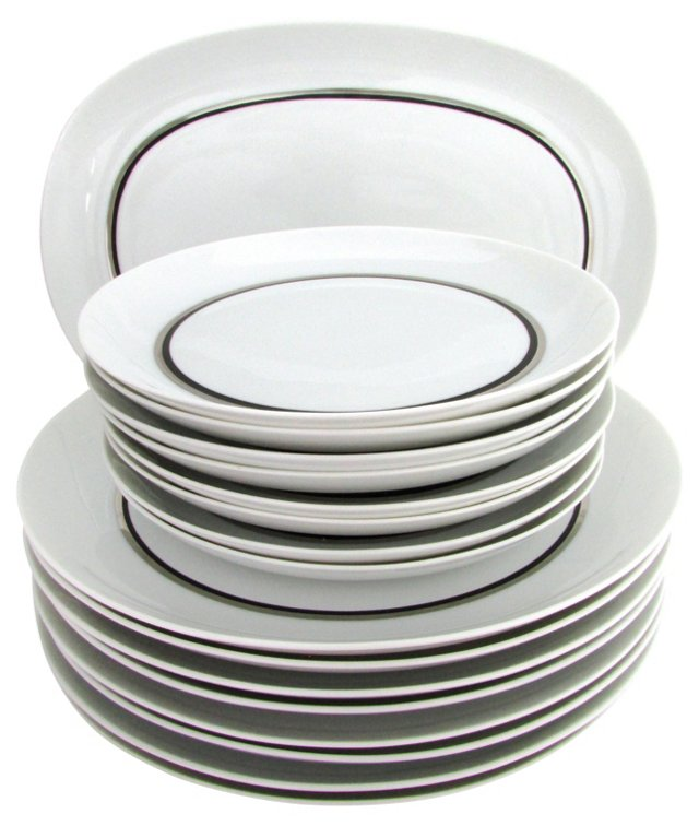 Block Bidasoa Platinum Dish Set, 17 Pcs