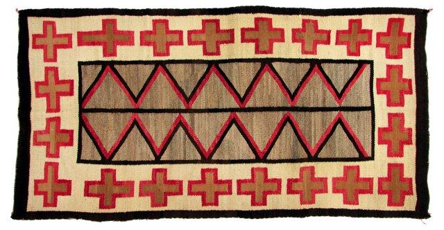 """Antique Navajo Rug, 7' x 3'8"""""""