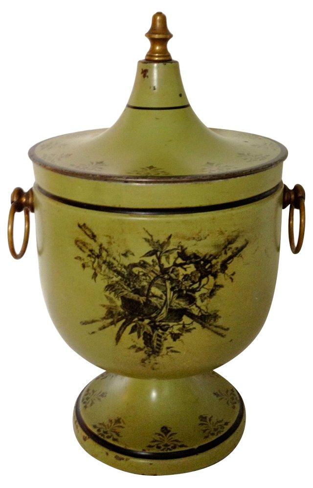 1930s Italian Tole Chestnut Urn