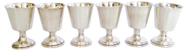 Sterling Silver Port Goblets, S/6