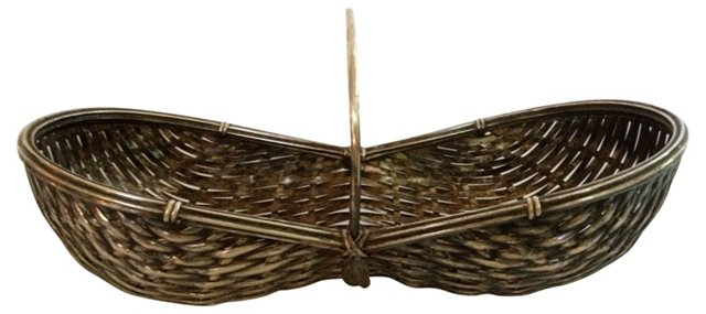 French Silverplate Basket