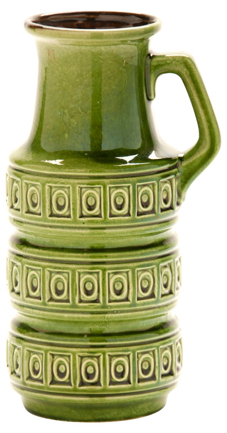 West German Green Vase