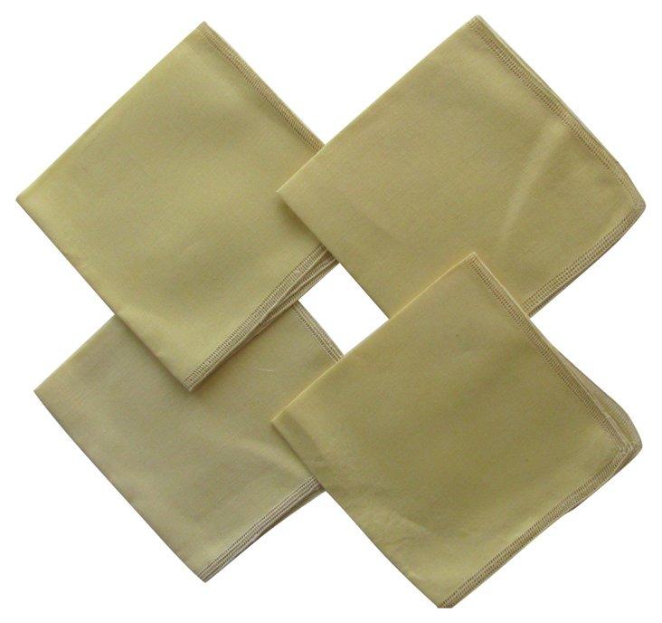 Yellow Linen Napkins, S/4