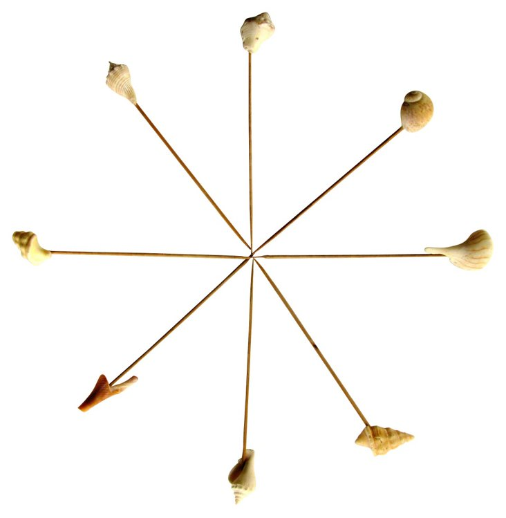 Shell Hors d'Oeuvres Skewers, S/8