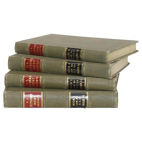 Green Decorative Legal Bindings, S/4