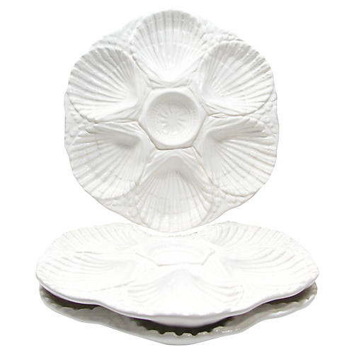 Portuguese Oyster Plates, S/3