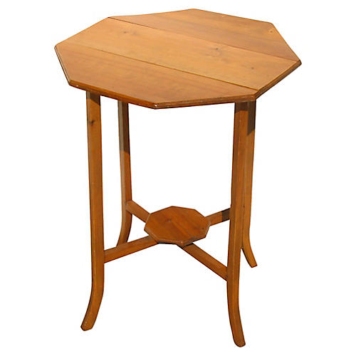 English Octagonal Narrow Drop-Leaf Table