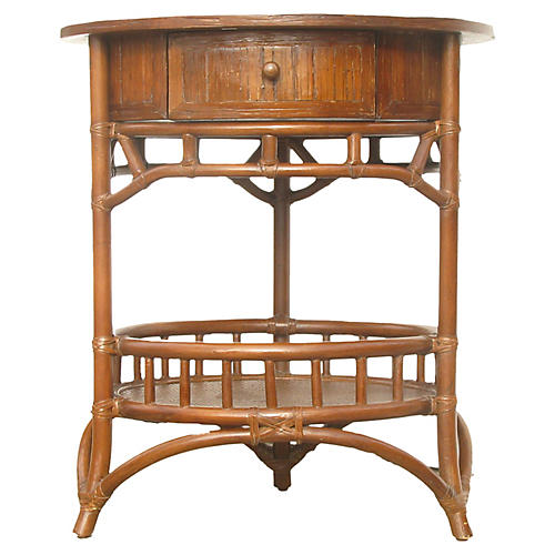 Tommy Bahama-Style Rattan Table