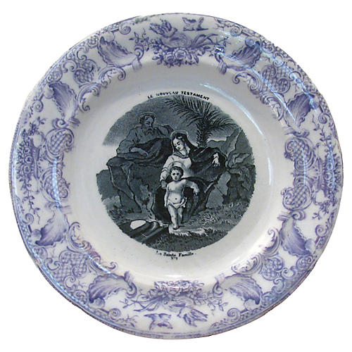French Holy Family Plate, C. 1875