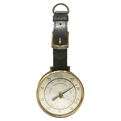 European Leather Strap Barometer