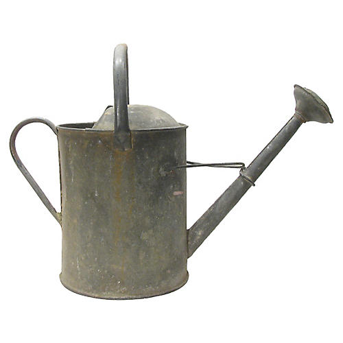Large English Zinc Watering Can