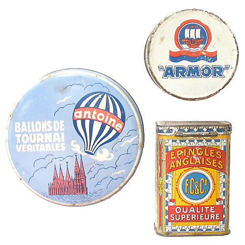 French & Belgian Tin Collection, S/3
