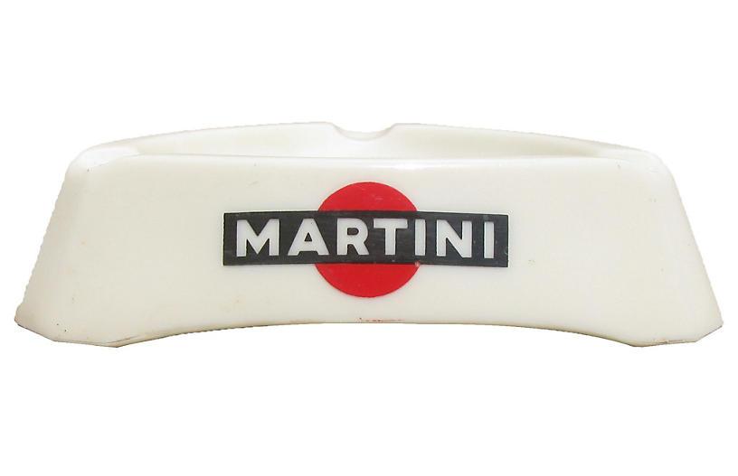 Martini&Rossi Milk Glass Bistro Ashtray