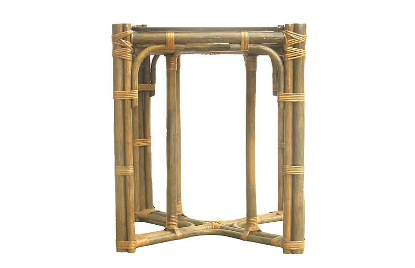 Midcentury Rattan / Bamboo Table