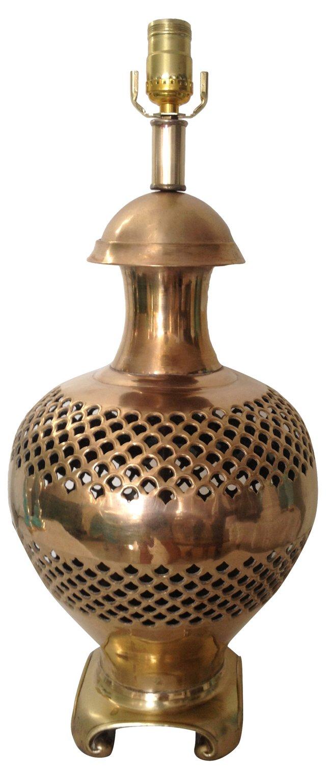 Pierced Brass Lamp