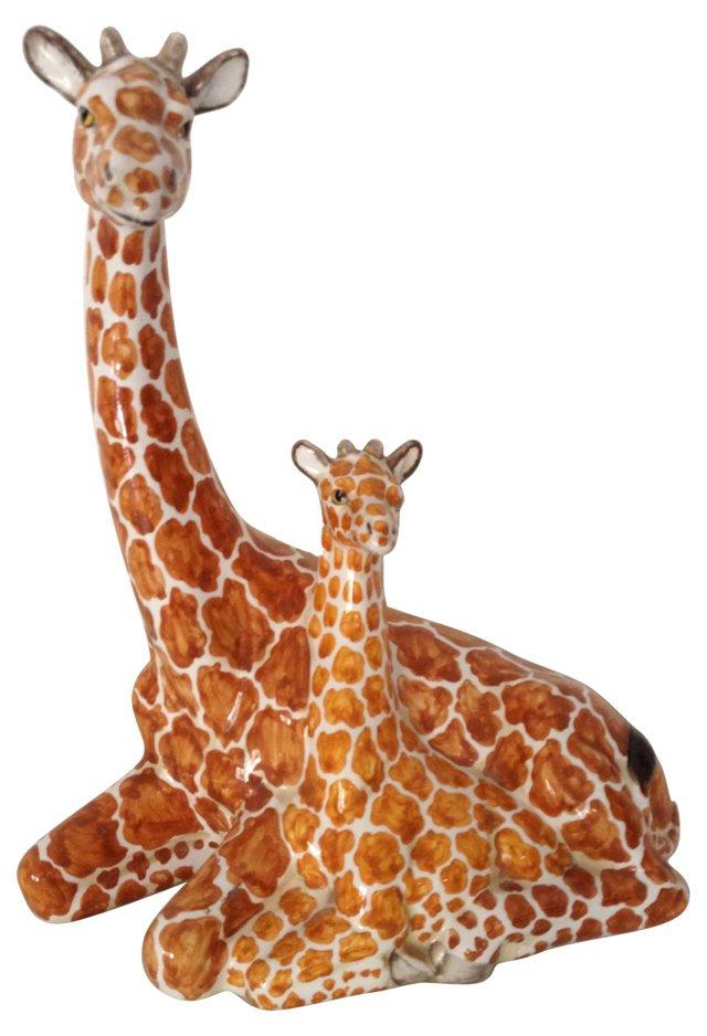 Hand-Painted Giraffes