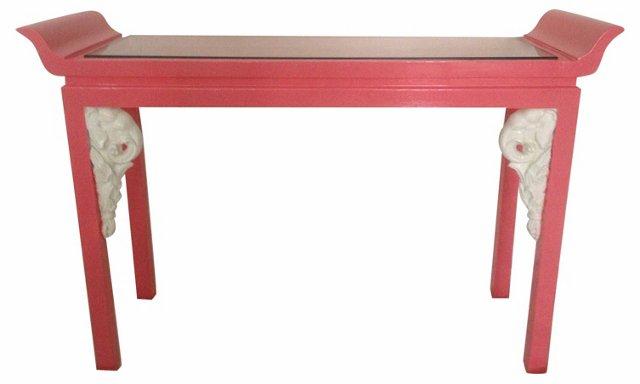 Pagoda Elephant Console Table
