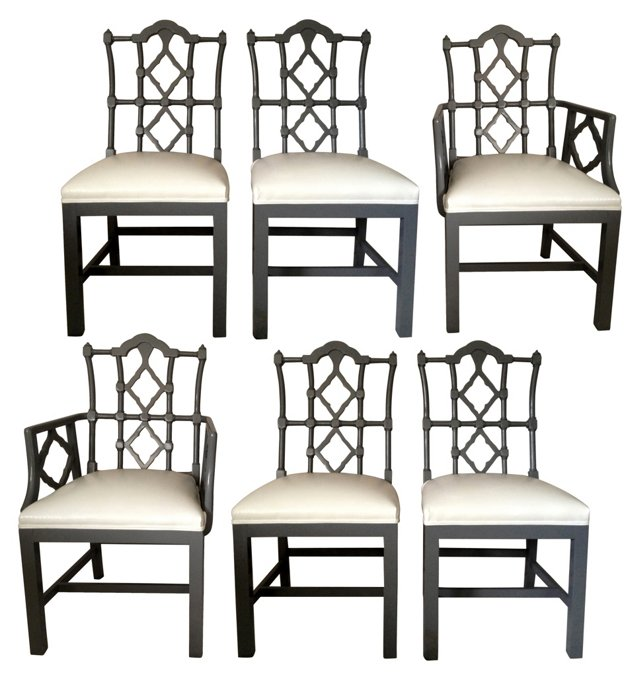 Fretwork Dining Chairs, Set of 6