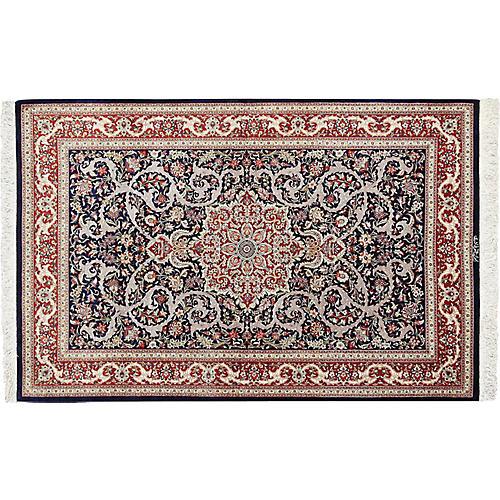 Navy Silk Persian Qum