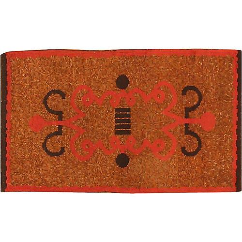 "French Art Deco Rug, 2'9"" x 4'8"""