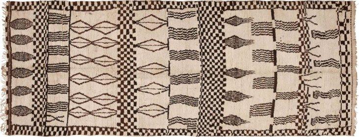 "Midcentury Moroccan Rug, 11'8"" x 4'6"""