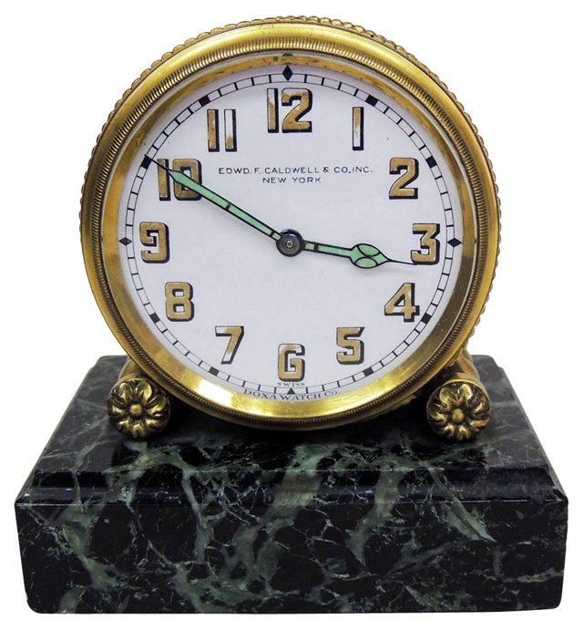 Caldwell Gilt Bronze Clock, C. 1900
