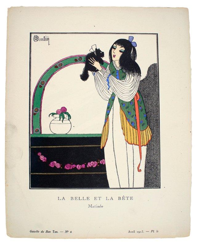 Art Deco Fashion   Pochoir, 1913