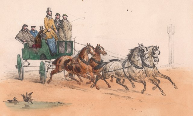 19th-C. Carriage Race